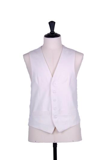 Ascot single breasted ivory wedding waistcoat