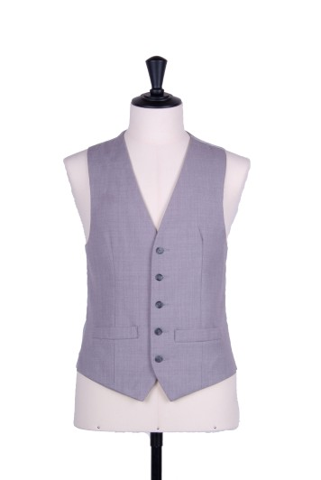 Ascot single breasted grey wedding waistcoat
