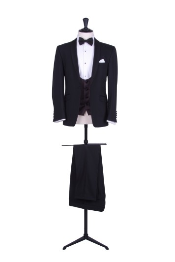 Shawl collared slim fit dinner suit hire
