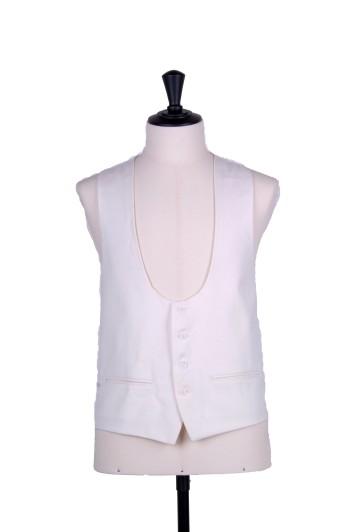 Ascot scoop ivory wedding waistcoat