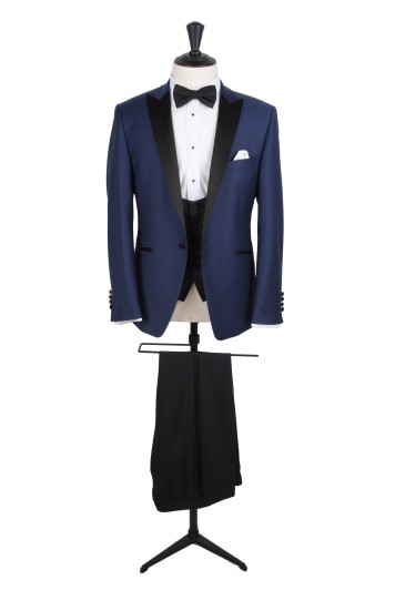 Prince of wales grey scoop wedding waistcoat