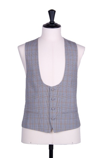 Prince of wales gold scoop wedding waistcoat
