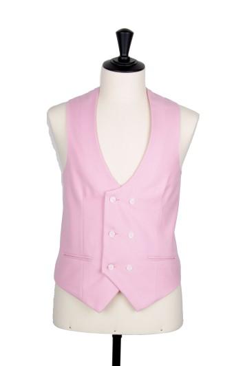 Ascot pink waistcoat DB scoop wedding