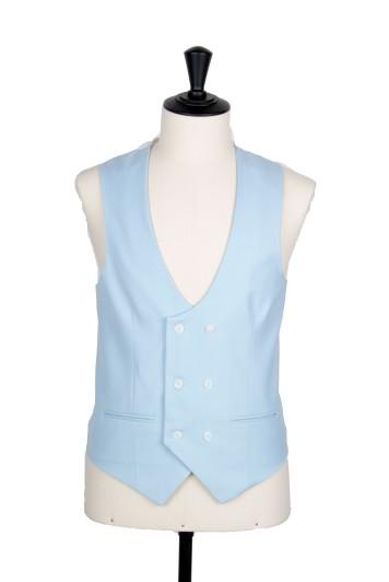 Ascot sky blue waistcoat DB scoop wedding