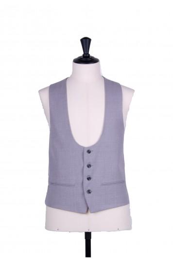 Ascot scoop grey wedding waistcoat