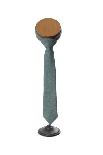 green tweed Grooms wedding tie
