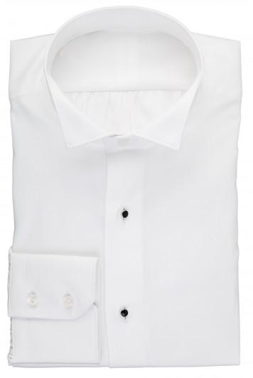 white wing collar evening shirt