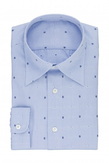 grooms blue flower wedding shirt