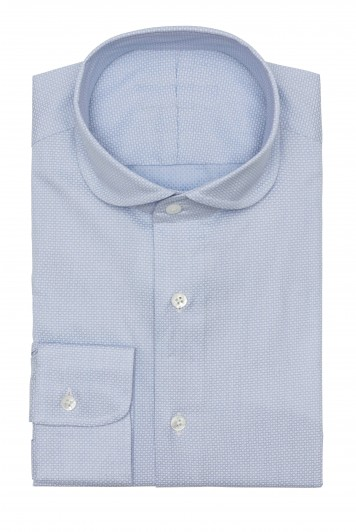 light blue dobby thin micro design Shirt