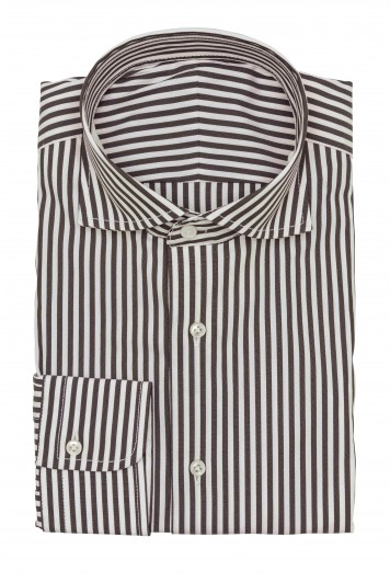mid brown with white stripes Shirt