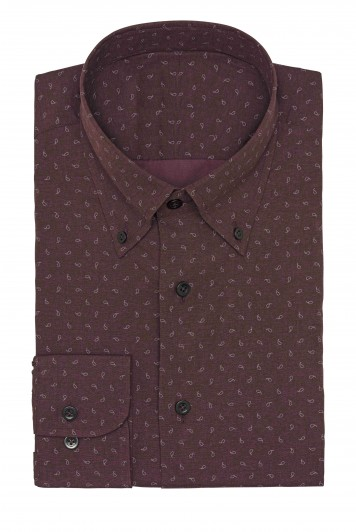 purple paisley print Shirt