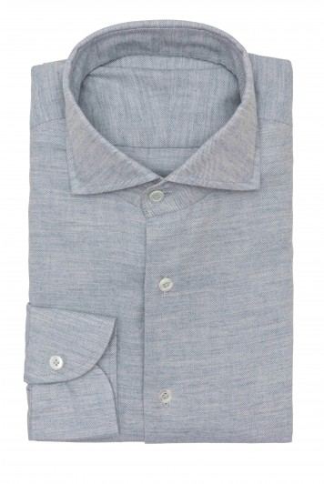 light blue flannel twill Shirt