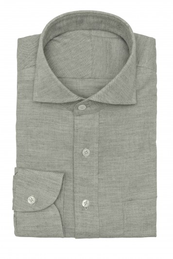 grey flannel twill shirt