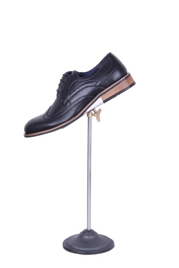 Black brogue hire shoes