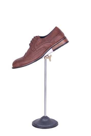 Brown brogue hire shoes