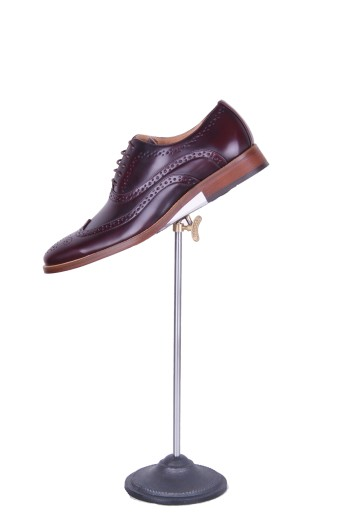 Ox blood brogue grooms shoes