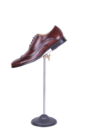 Dark brown brogue hire shoes