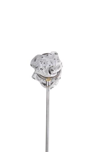 Silver floral wedding pocket square