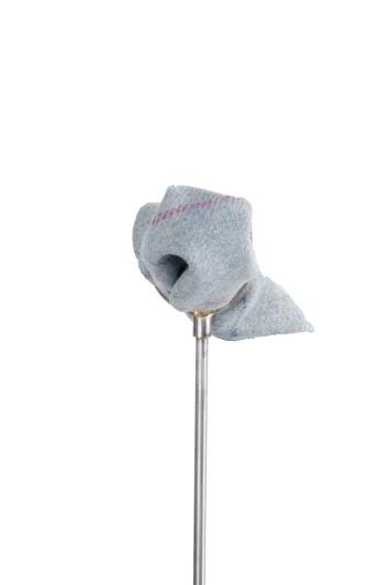 Tweed blue pink check Grooms wedding pocket square
