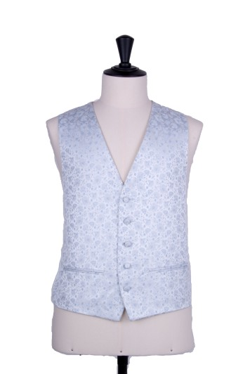 Small floral sky blue GRooms wedding waistcoat