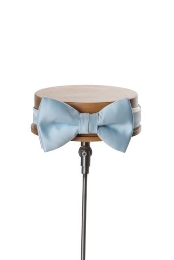 Sky blue wedding bow tie