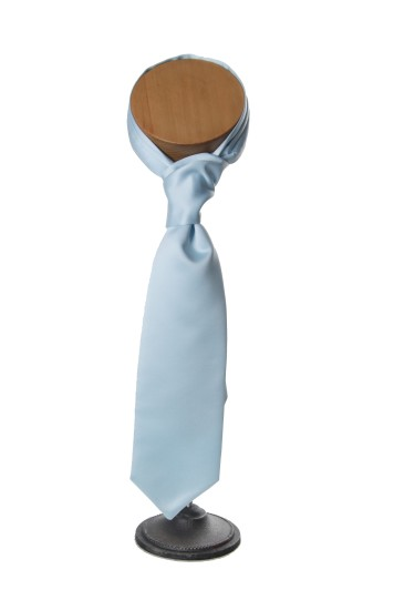 Sky blue wedding cravat