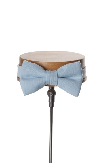 Ascot sky blue Grooms wedding bow tie