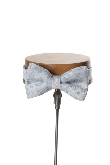 Sky blue Grooms wedding bow tie