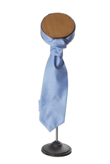 Sky blue grooms wedding cravat
