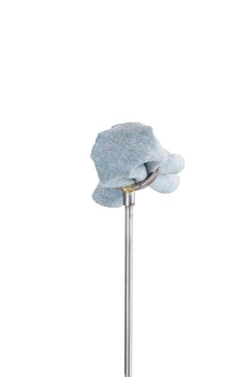 Tweed sky blue Grooms wedding pocket square