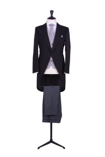 black tails wedding suit hire