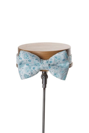 Teal wedding bow tie
