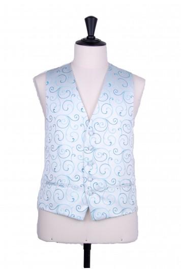 swirl turquoise wedding waistcoat