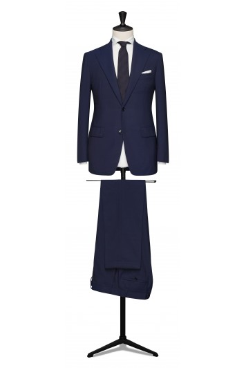 Napolitan blue pure wool made to measure grooms suit