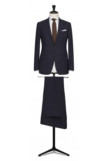 Navy pure wool made to measure grooms suit