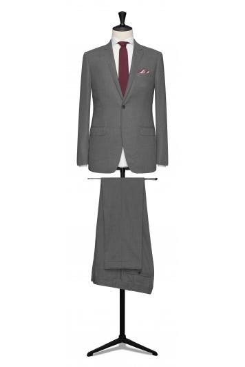 Light grey pure wool made to measure grooms suit