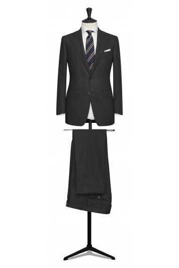 Charcoal grey pure wool made to measure grooms suit
