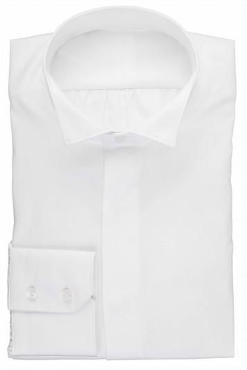 White wing collar dress shirt