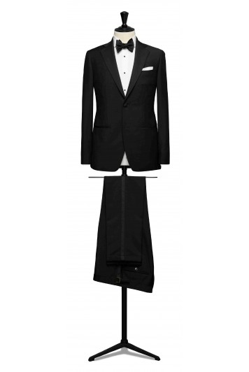 wool-mohair tropical black wedding dinner suit