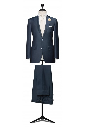 Steel blue wedding suit