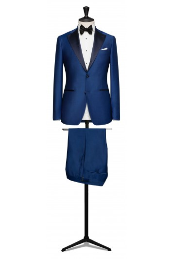 Royal blue dinner wedding suit tux.