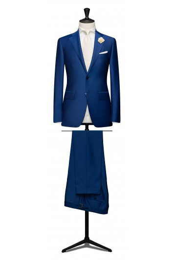 Royal blue light weight mohair suit.