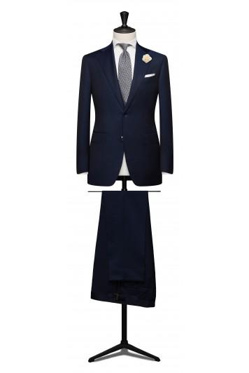 Dark blue grooms wedding suit