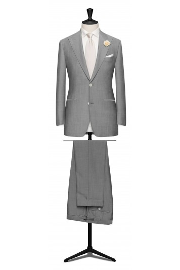 silver light wedding suit
