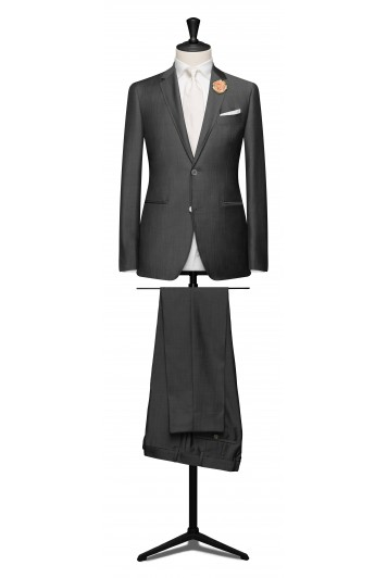 mid grey light weight mohair suit.