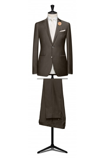 Taupe light weight mohair suit.