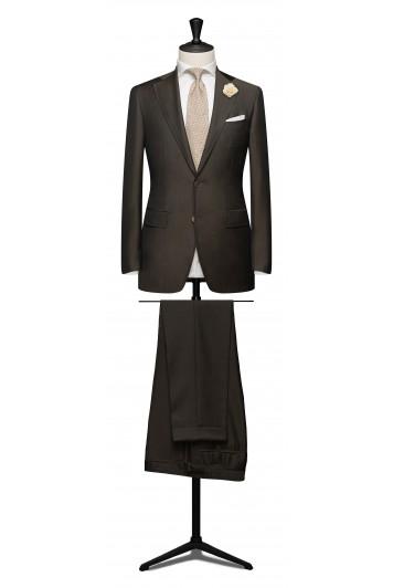 Dark brown light weight mohair suit.