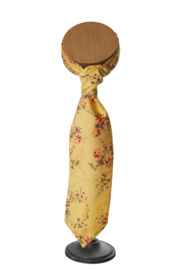 yellow tea rose wedding floral vinatge cravat grooms